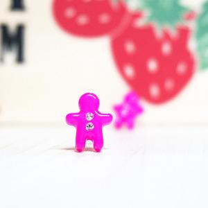 쿠키맨 귀걸이 E068